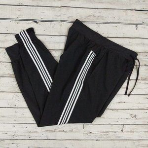 Avia Track Pants Stripes Tapered M Black Pockets